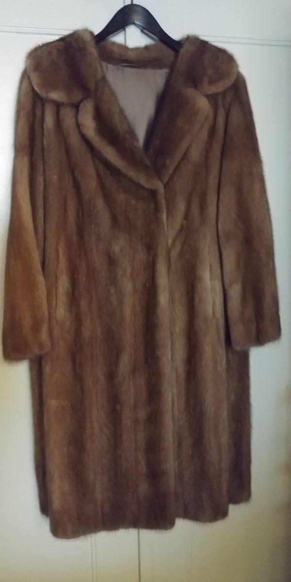 Magnifique manteau en vison non teinté vintage