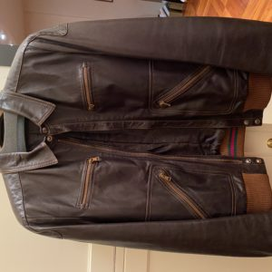 Blouson vintage en cuir Gucci pour homme, taille L