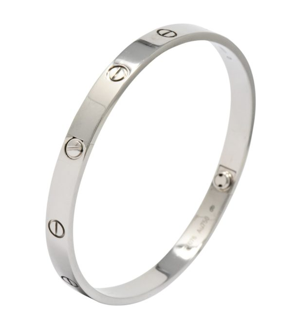 Bracelet Cartier Love Talle 21 or Blanc