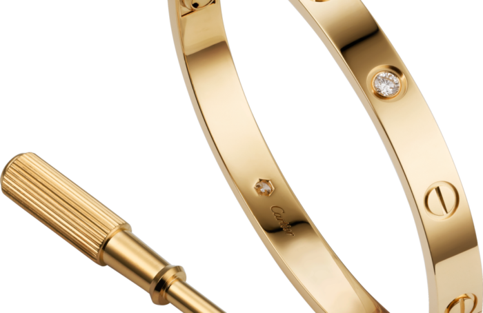 Bracelet Cartier Love taille 17 avec diamants