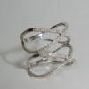Bague large multiples anneaux double X en Or avec Diamants