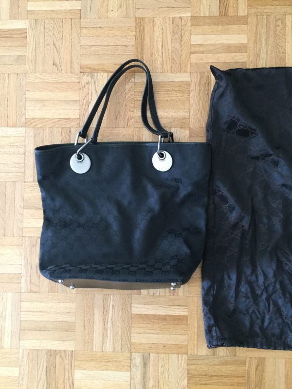 Sac Gucci tissu noir