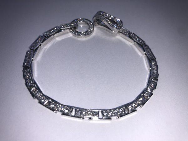 CARTIER AGRAFE WHITE GOLD 18K DIAMOND BRACELET + BOX