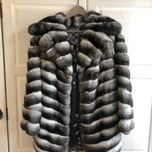 Authentic Chinchilla fur coat
