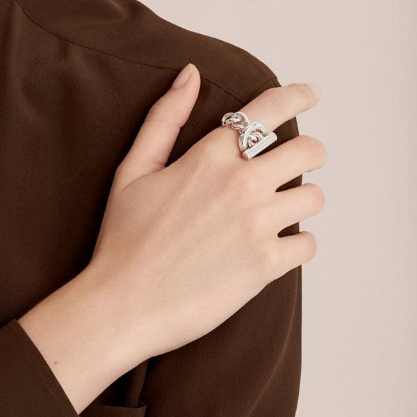 Hermès bague Croisette, grand modèle