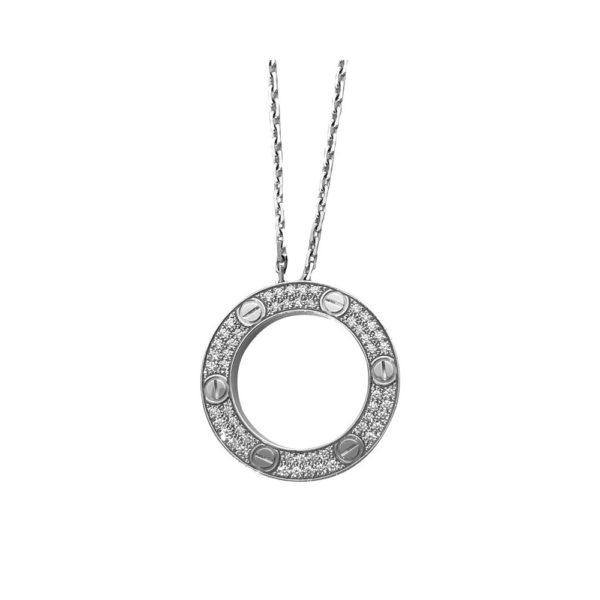Collier Cartier Love pavé diamant